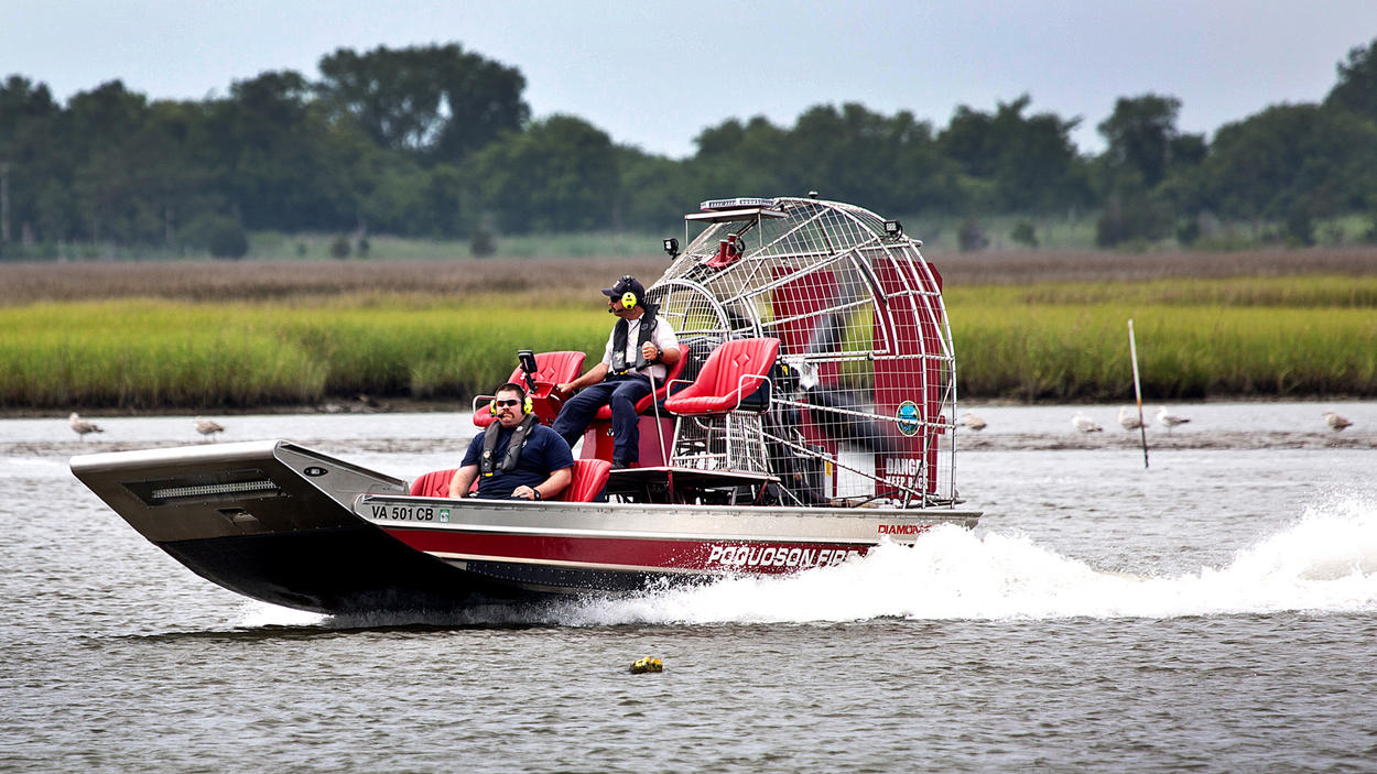 Poquoson Fire Department First Airboat