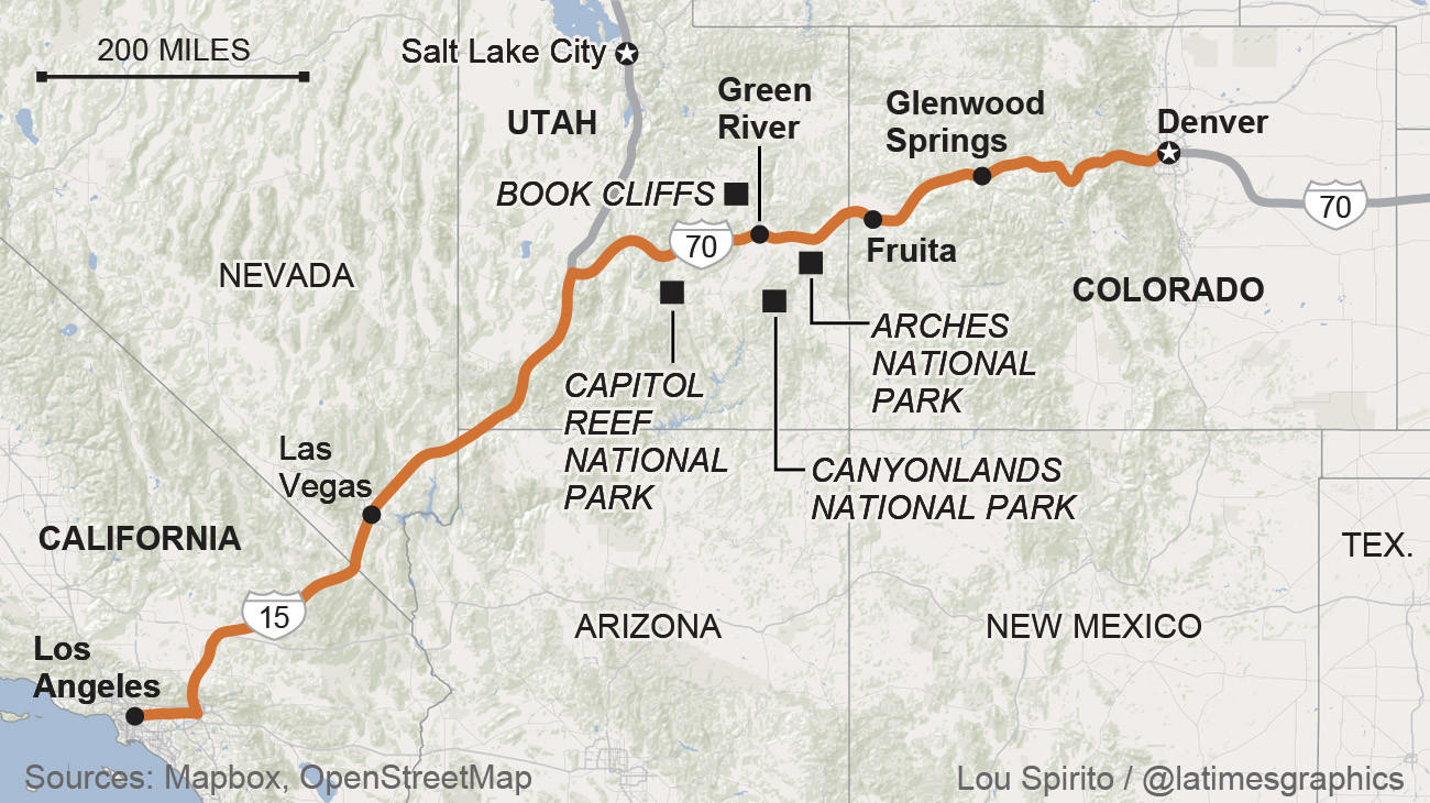 Road trips where to go and what to know la times for Planning colorado vacation