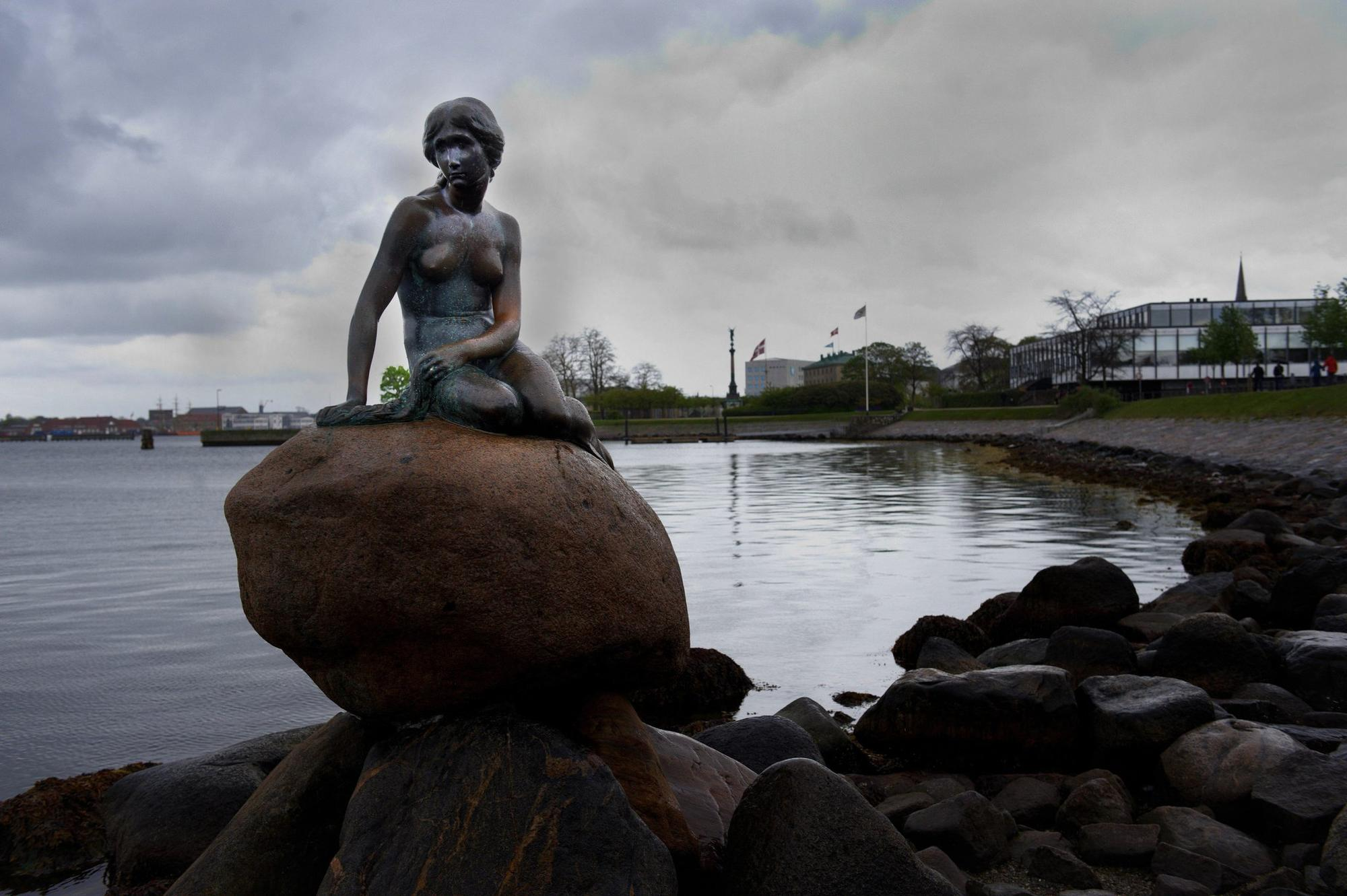 """The Little Mermaid,"" a bronze statue by Edvard Eriksen, that was removed — and later reinstated — to Facebook."