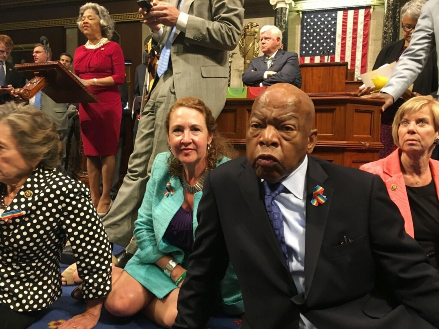 no bill, no break': house democrats continue sit-in protest into