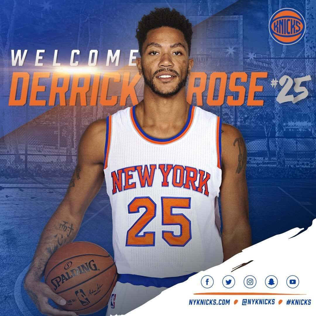 Derrick Rose takes new jersey number with Knicks - Chicago ...