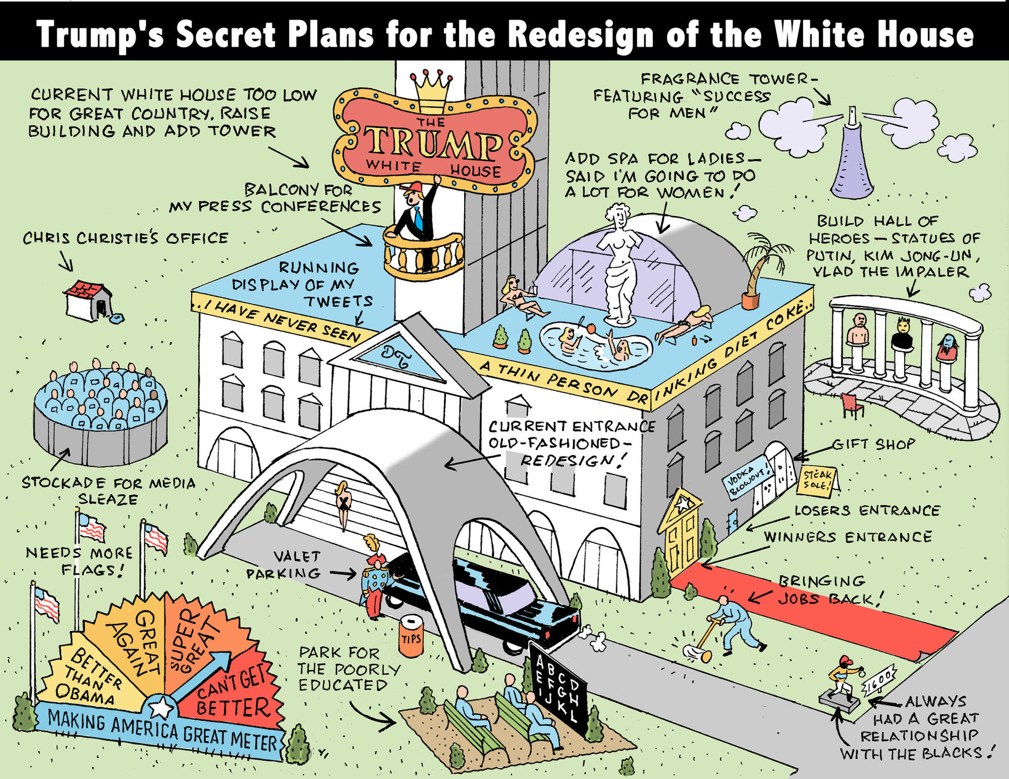Donald Trumps secret plan for the redesign of the White House