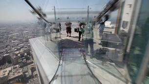 Ride the glass Skyslide at the US Bank Tower
