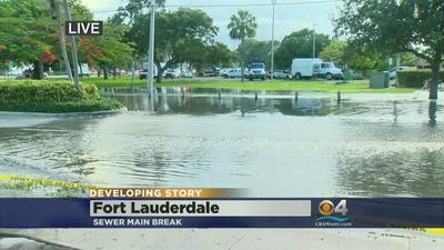 Fort Lauderdale sewer main break