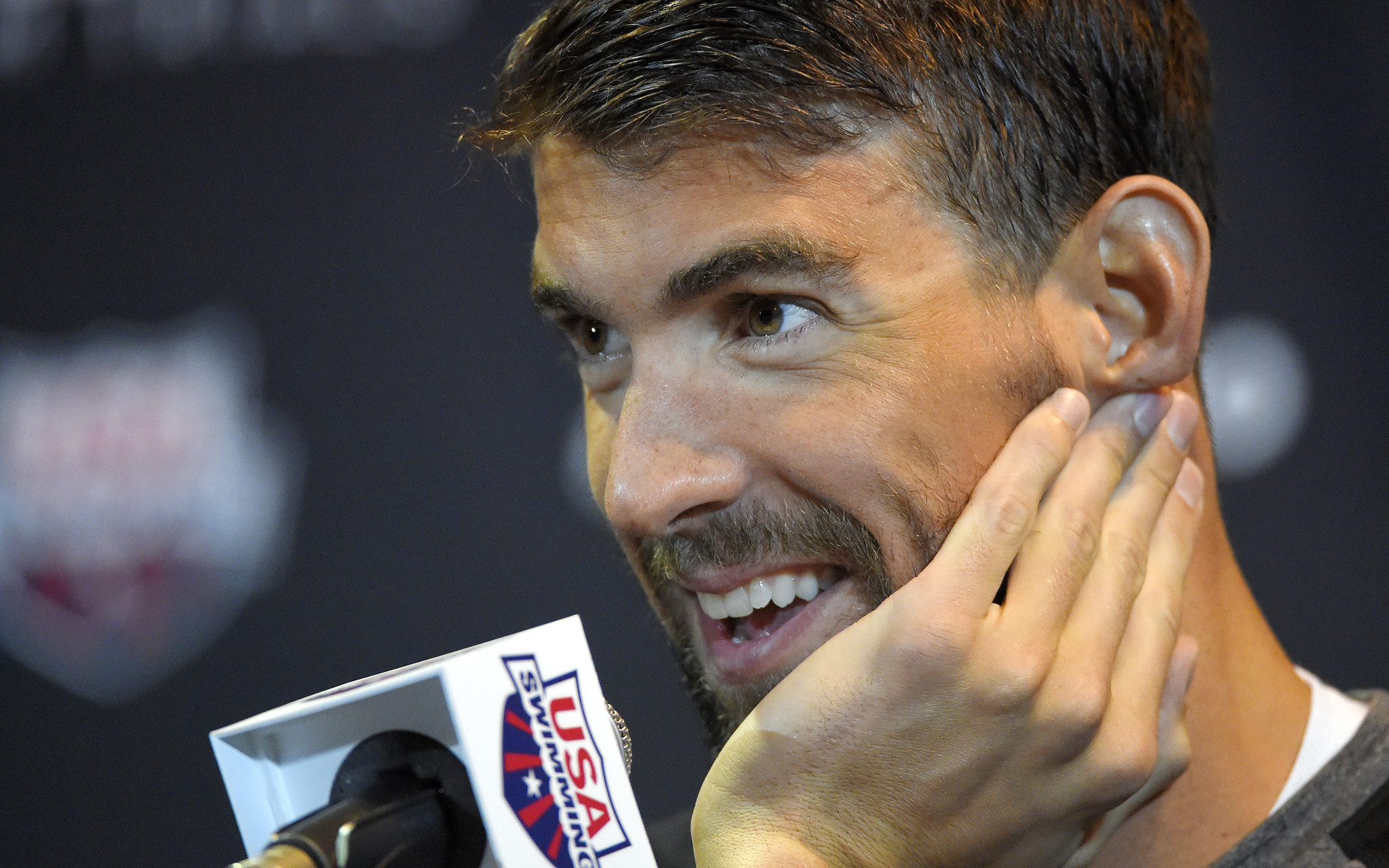 Michael Phelps At Ease As He Prepares For His Last Olympic Swimming