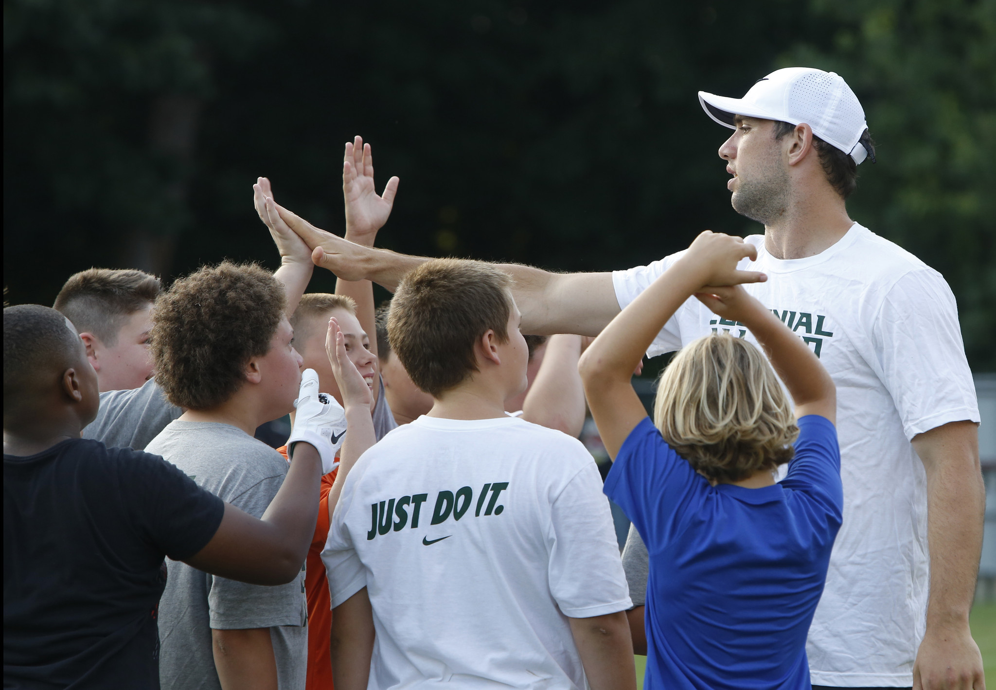 William and Mary s football camp all smiles with Colts QB Andrew