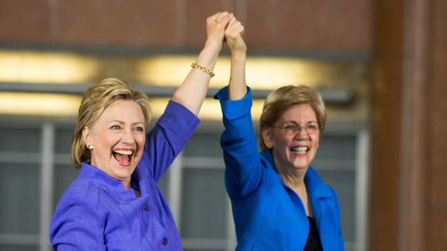 Image result for hillary clinton and elizabeth warren
