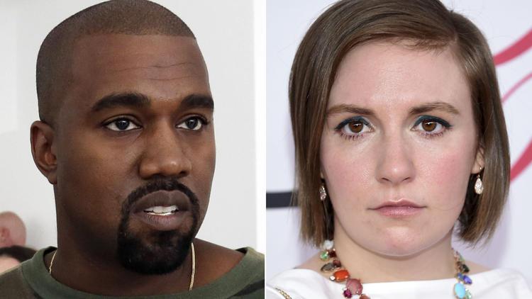 Kanye West, Lena Dunham