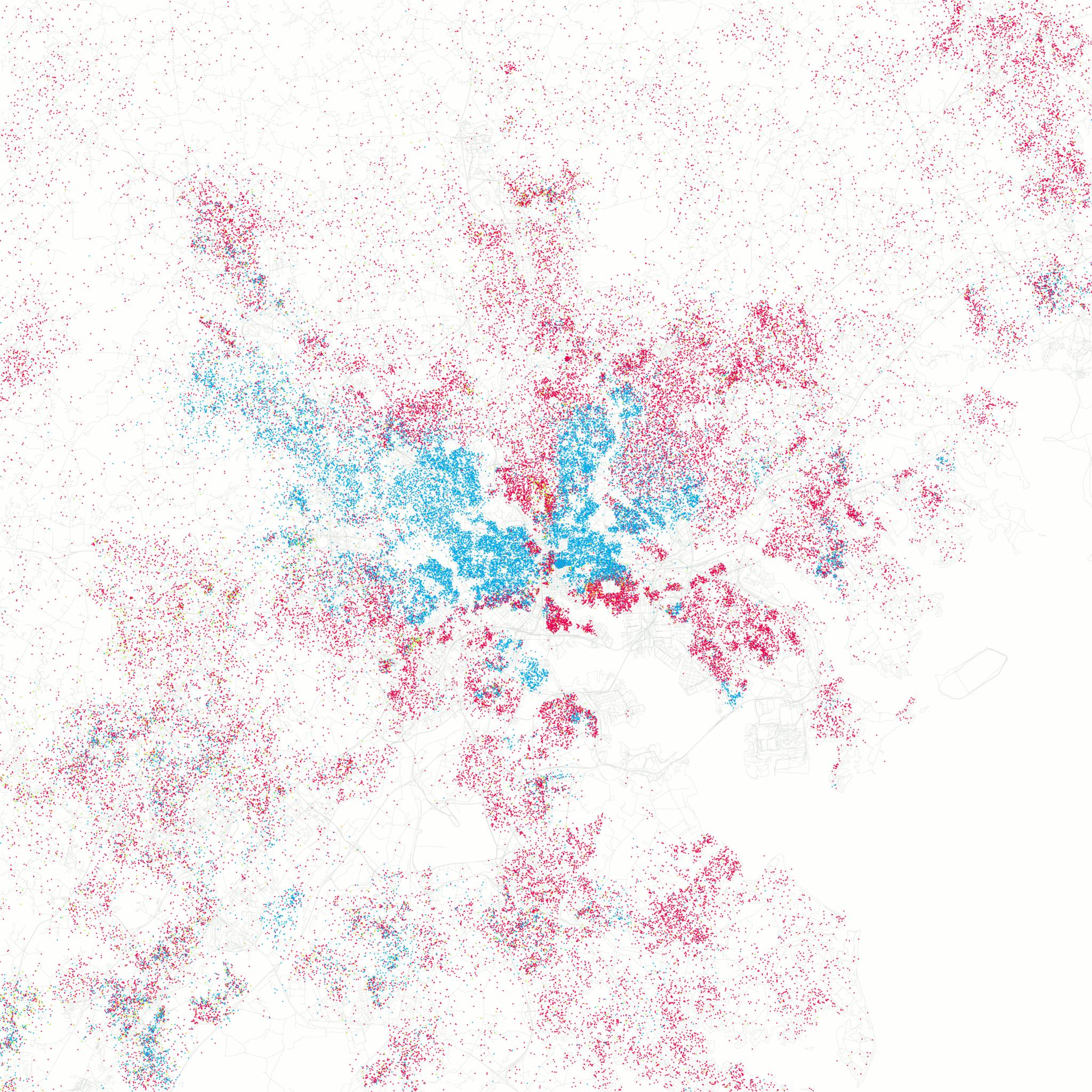 Mapping Baltimore A Layered Look At Our Cityneighborhood By - Us map with race concentrations