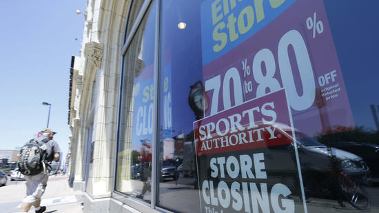 Sports Authority and Sport Chalet both closed all stores in recent years.