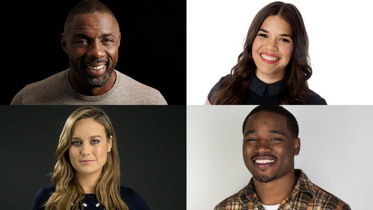 Idris Elba, clockwise from top left, America Ferrera, Ryan Coogler and Brie Larson are among the 683 people invited to join the Academy of Motion Pictures Arts and Sciences this year. (Carolyn Cole / Los Angeles Times; Kirk McKoy / Los Angeles Times; Jay L. Clendenin / Los Angeles Times; Kirk McKoy / Los Angeles Times)