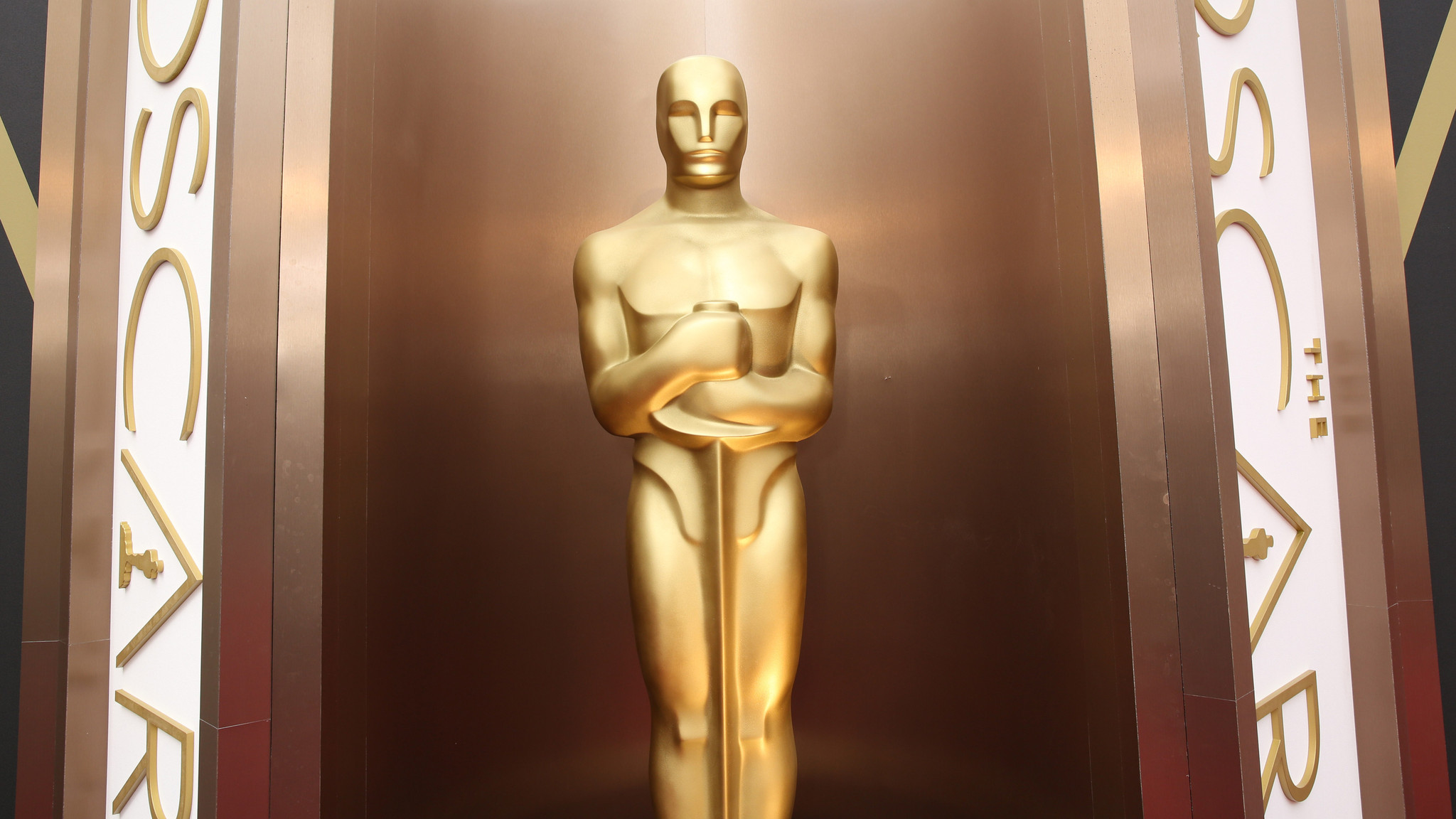 An Oscar statue is displayed at the Oscars at the Dolby Theatre in Los Angeles (Matt Sayles/Invision/AP)
