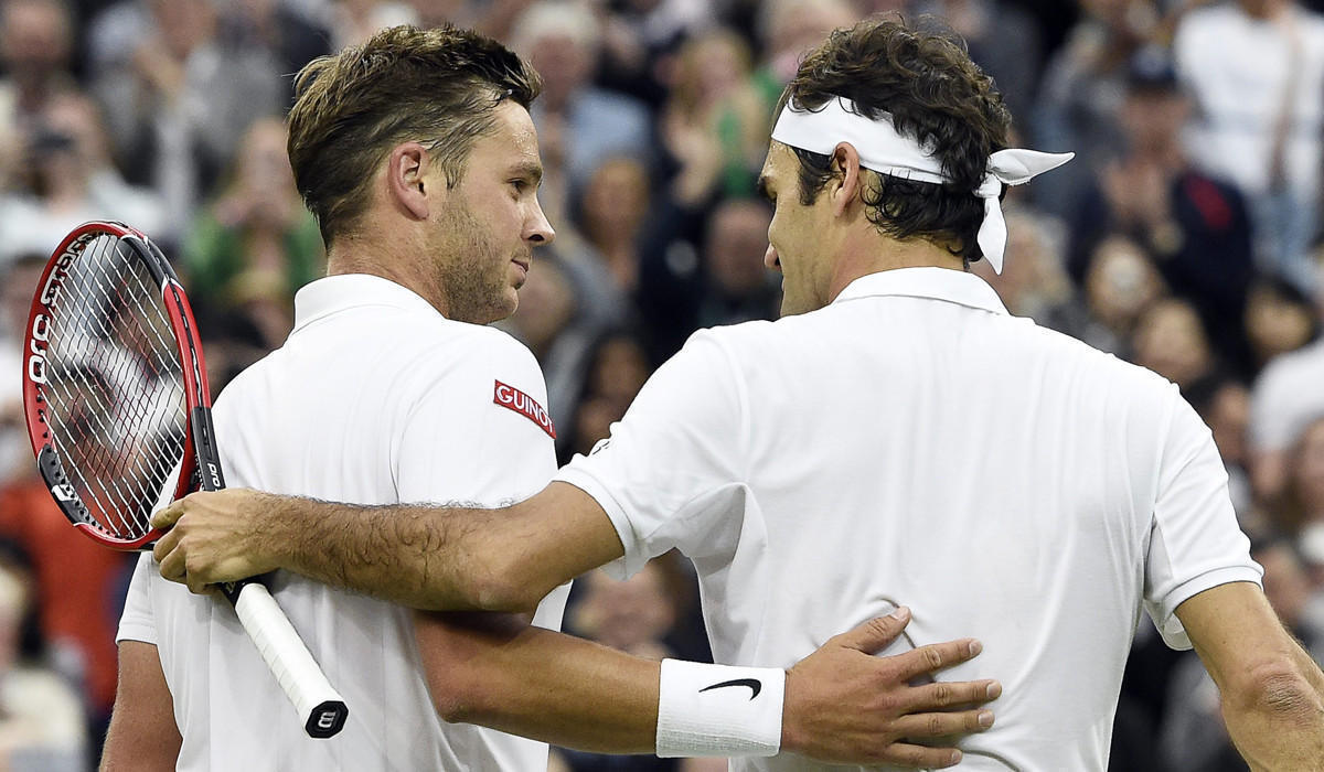 Roger Federer ties a Wimbledon record set by Jimmy Connors LA Times