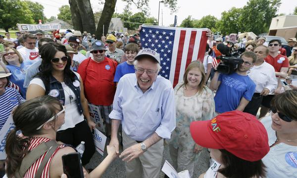 Bernie Sanders in Iowa last year. (Charlie Neibergall / Associated Press)