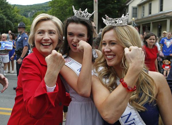 Hillary Clinton in New Hampshire in 2015. (Robert F. Bukaty / Associated Press)