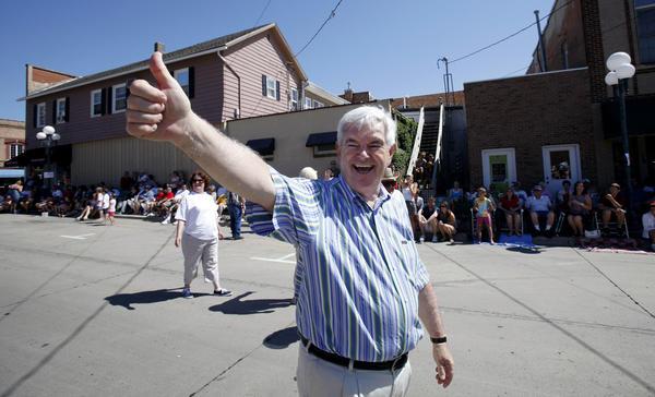 Newt Gingrich in Iowa in 2011. (Charlie Neibergall / Associated Press)