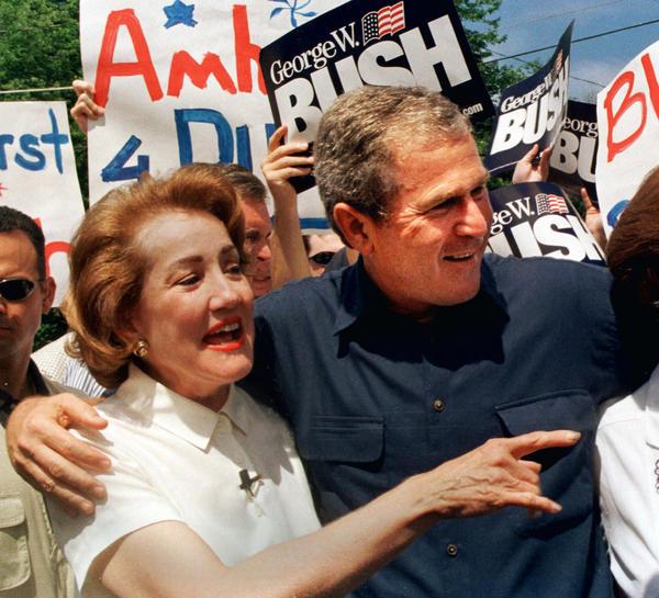 George W. Bush and Elizabeth Dole in New Hampshire in 1999. (Jim Cole / Associated Press)