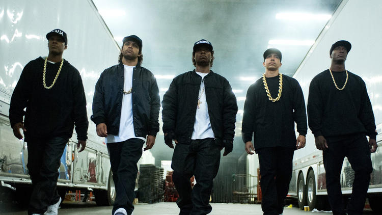 """An image from the 2015 film """"Straight Outta Compton."""" (Universal Pictures)"""