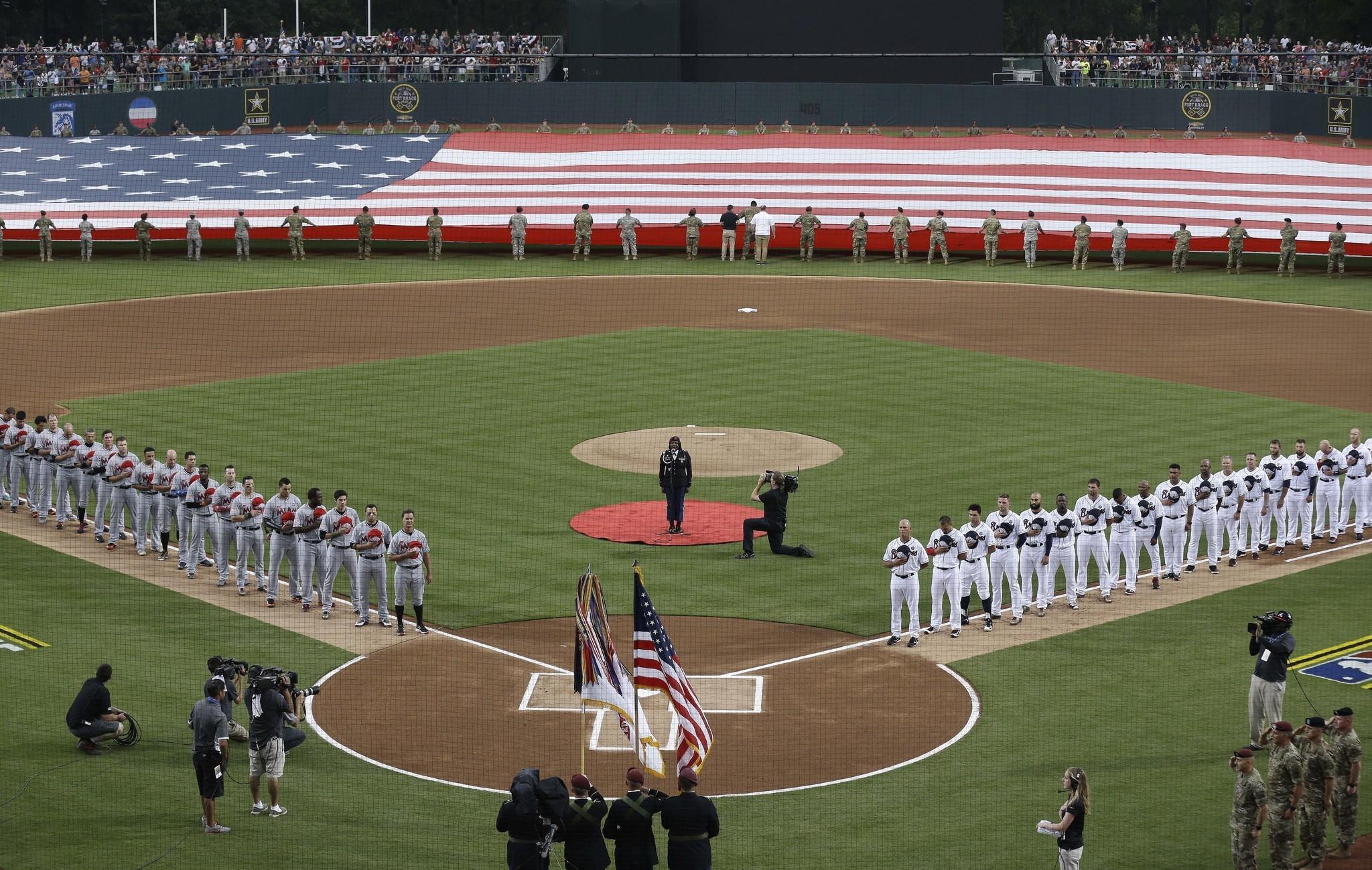 baseball at fort bragg a big hit for mlb military marlins win