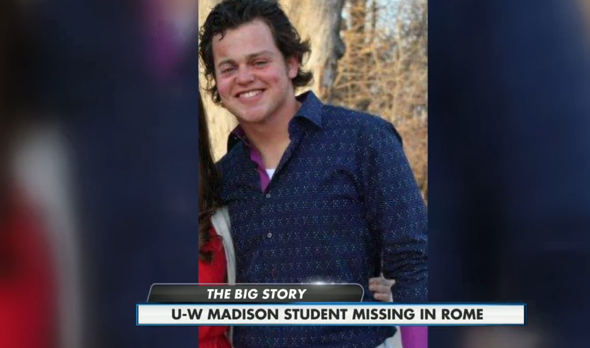 US college student goes missing a day after arriving in Rome