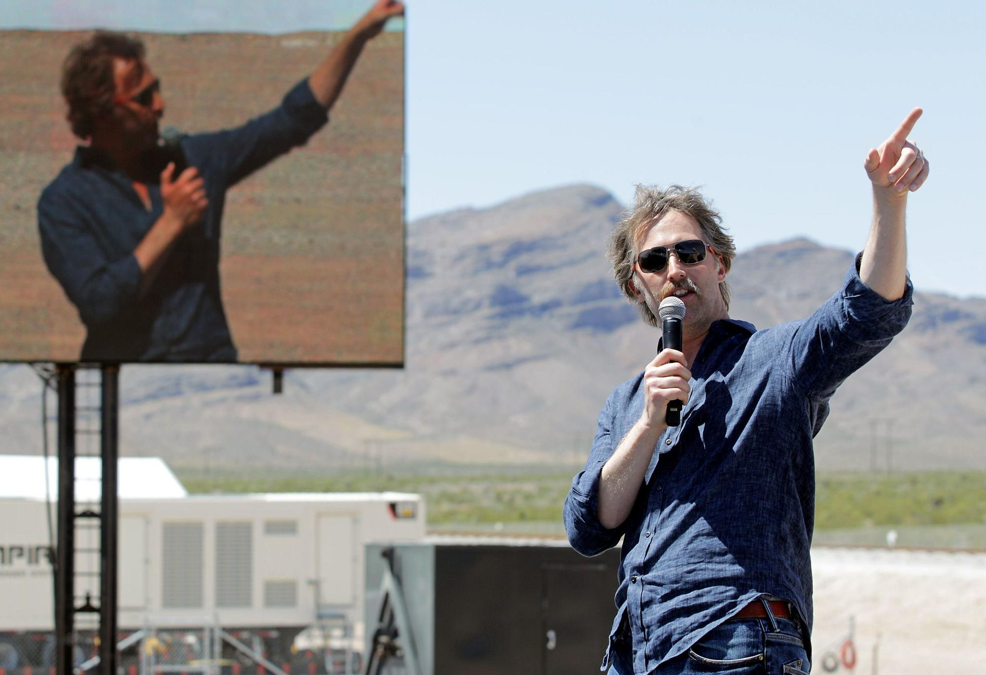 Brogan BamBrogan, who has departed Hyperloop One, speaks at a technical demonstration put on by the company in May in North Las Vegas.