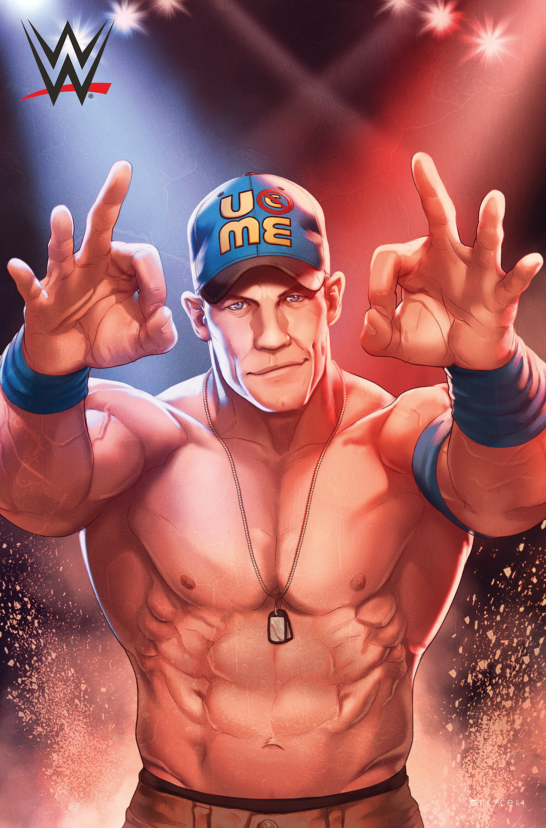 An illustration of John Cena by Jamal Campbell.