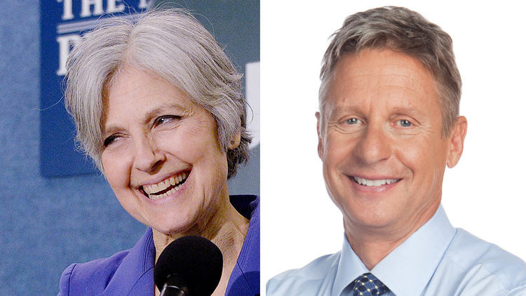 Jill Stein, Gary Johnson