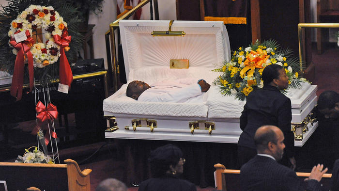 Eric Garner's funeral was held at Bethel Baptist Church in Brooklyn, N.Y.