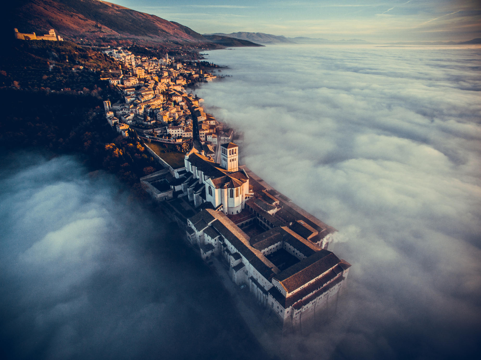 An image of the Basilica of St. Francis of Assisi in Italy took first place in the travel category.