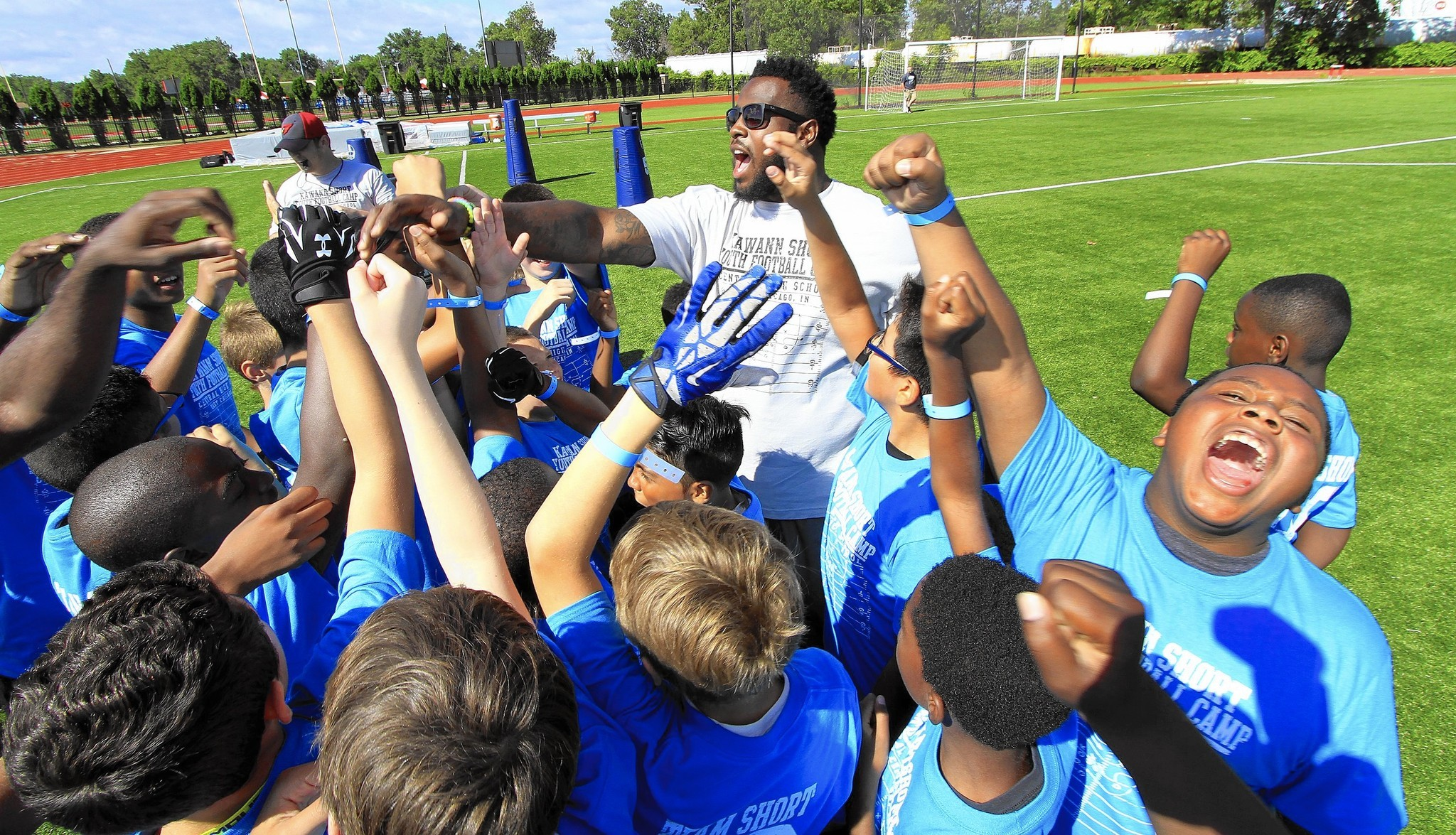 Carolina Panther All Pro Kawann Short inspires at East Chicago