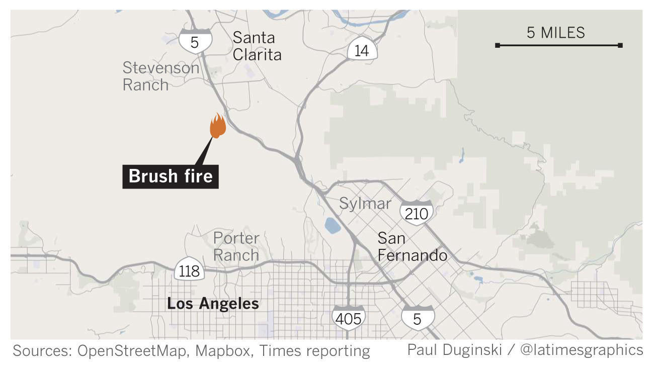 Stevenson Ranch Residents To Be Allowed To Return Home But Blaze - Los angeles map porter ranch
