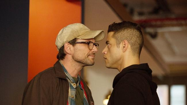 """Christian Slater and Rami Malek appear in a scene from """"Mr. Robot."""" (Christopher Saunders / USA Network)"""