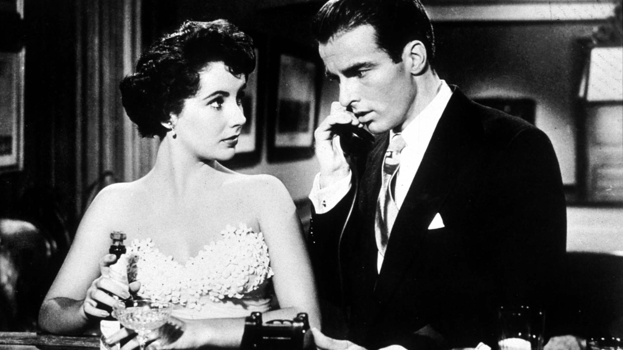 """Elizabeth Taylor and Montgomery Clift in """"A Place in the Sun."""""""
