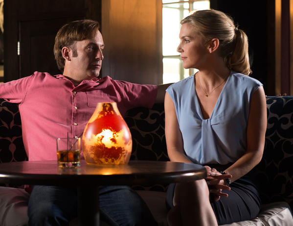 "Bob Odenkirk of ""Better Call Saul"" in a scene with costar Rhea Seehorn. (Ursula Coyote / Sony Pictures Televivsion)"