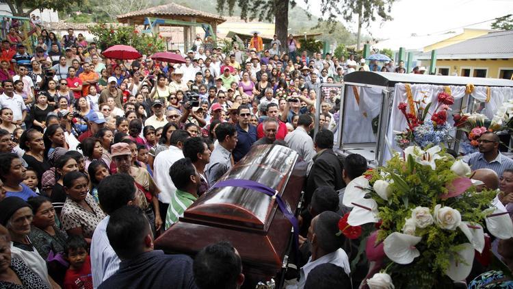 Lesbia Janeth Urquia's coffin