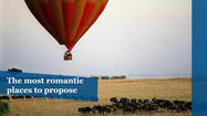 The world's most romantic places to propose