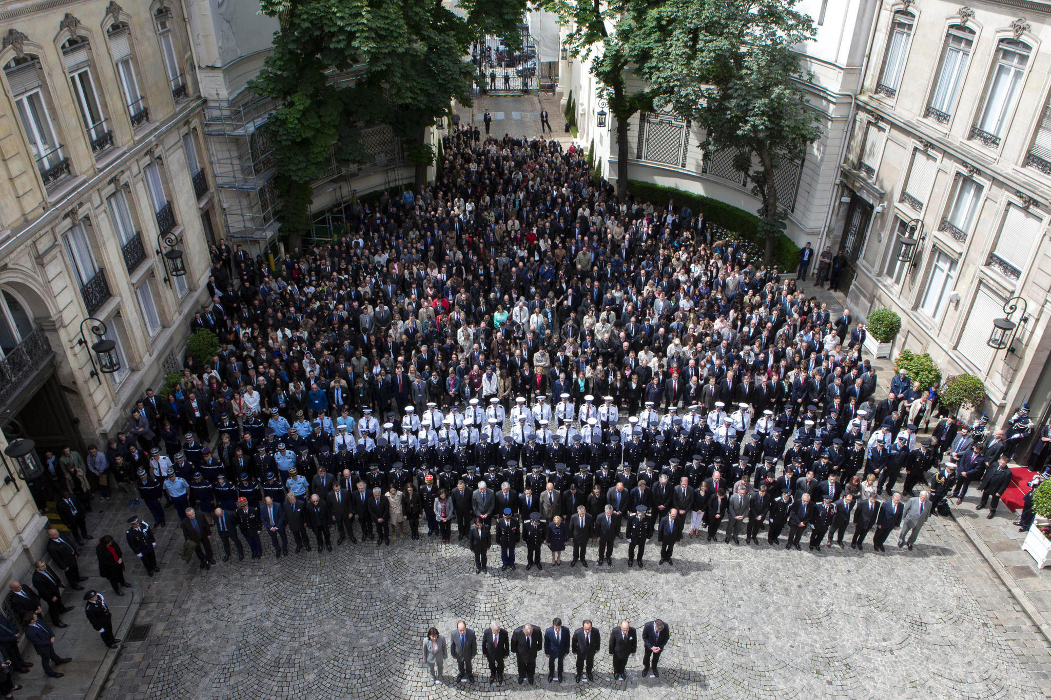 Ceremony to pay tribute to a French policeman and his wife, who were killed.