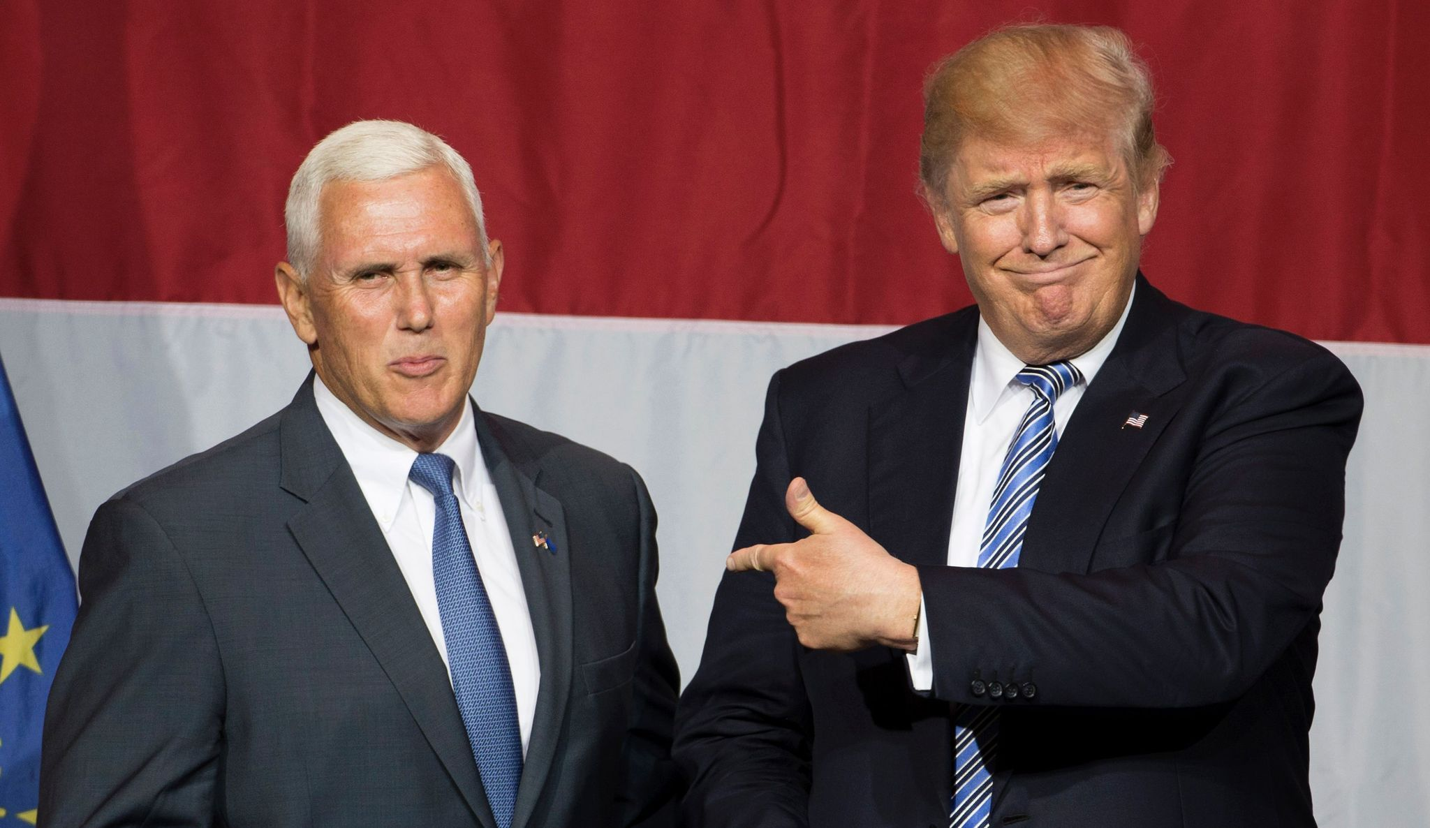 ( Mike Pence and Donald Trump Chicago Tribune )