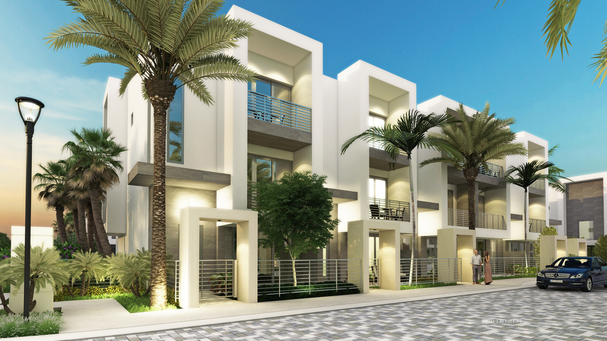 Kolter Building Three Story Townhomes In Boca Raton Sun