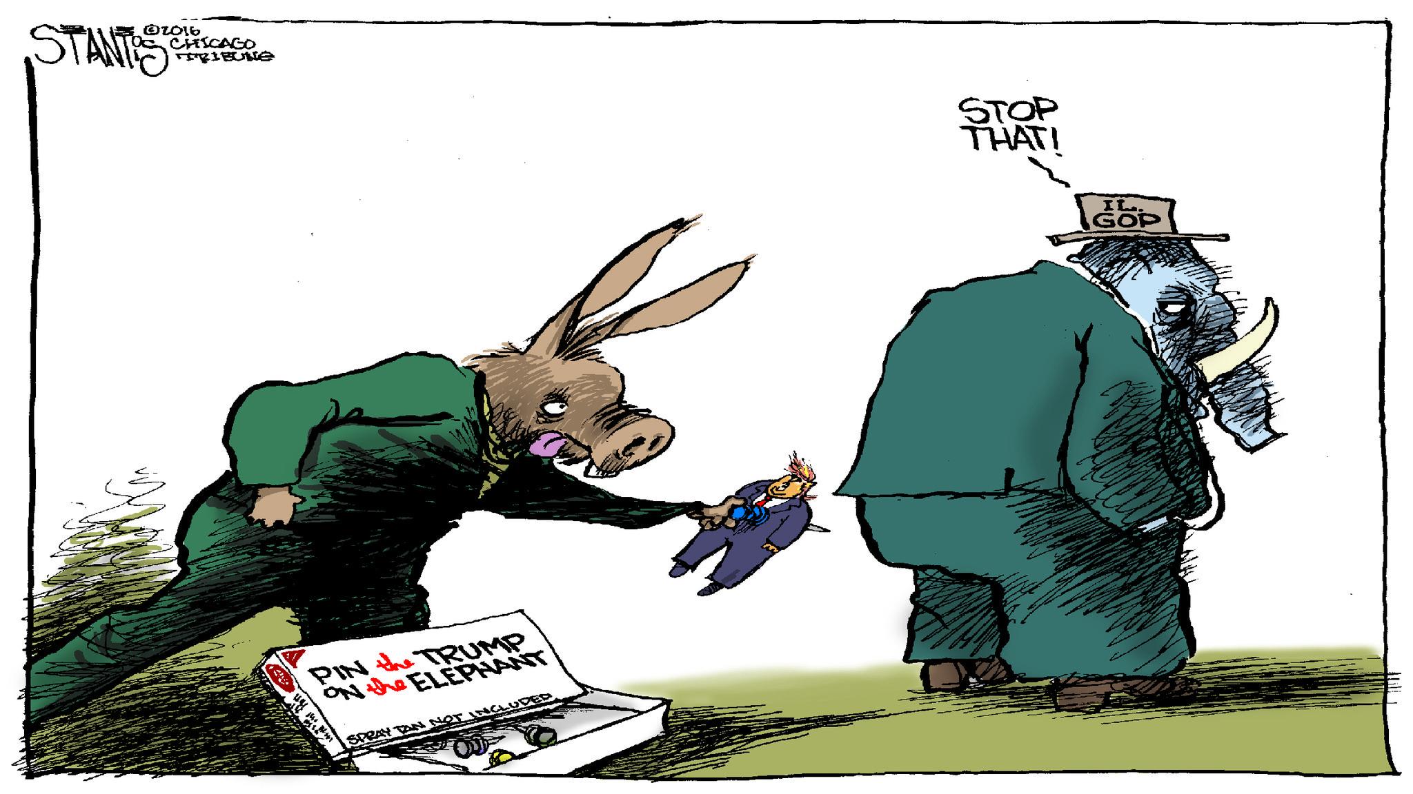 Pin the Trump on the Elephant - Chicago Tribune