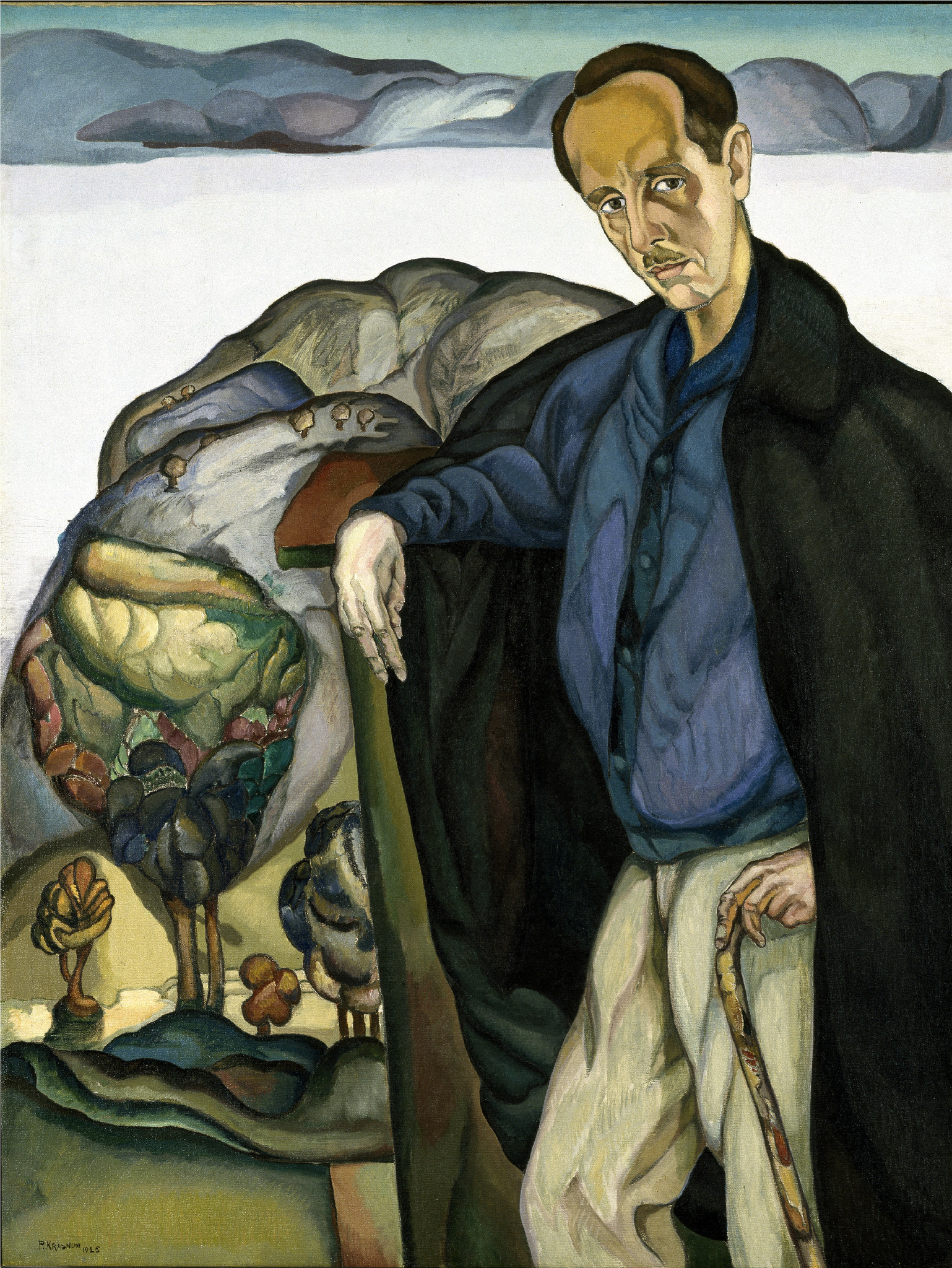 "Peter Krasnow, ""Edward Henry Weston,"" 1925, oil on canvas"