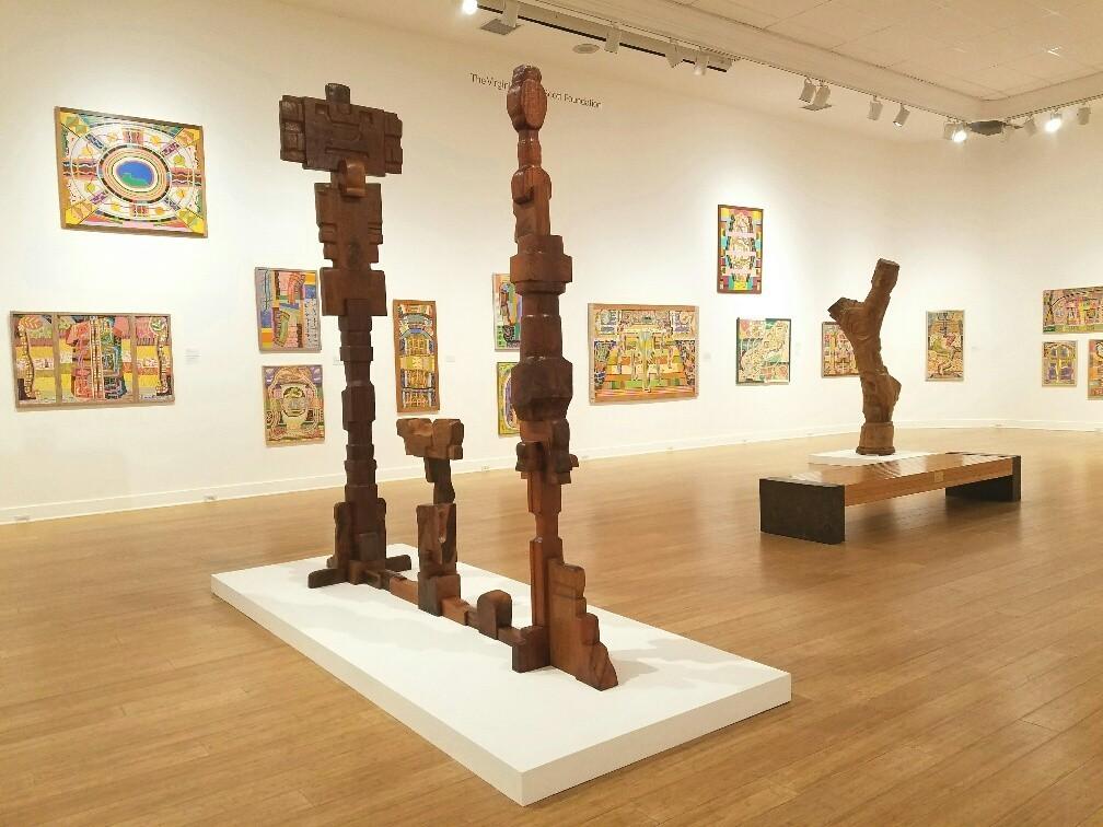 "Installation view of ""Peter Krasnow: Maverick Modernist"" at Laguna Art Museum."