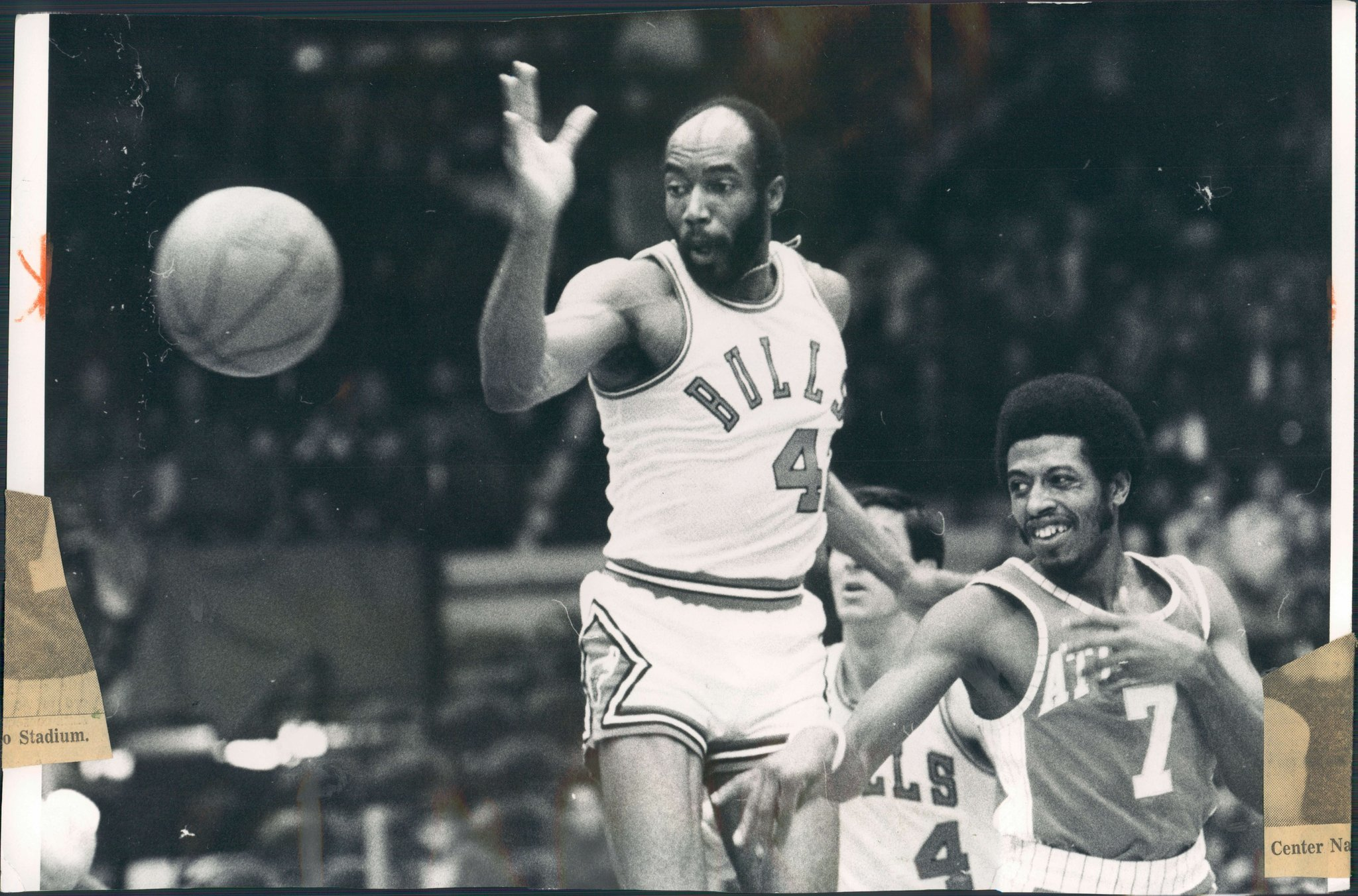 NBA great Nate Thurmond Hall of Fame center and former Bull s