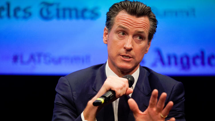 Lt. Gov. Gavin Newsom. (Jenna Schoenefeld / For The Times)
