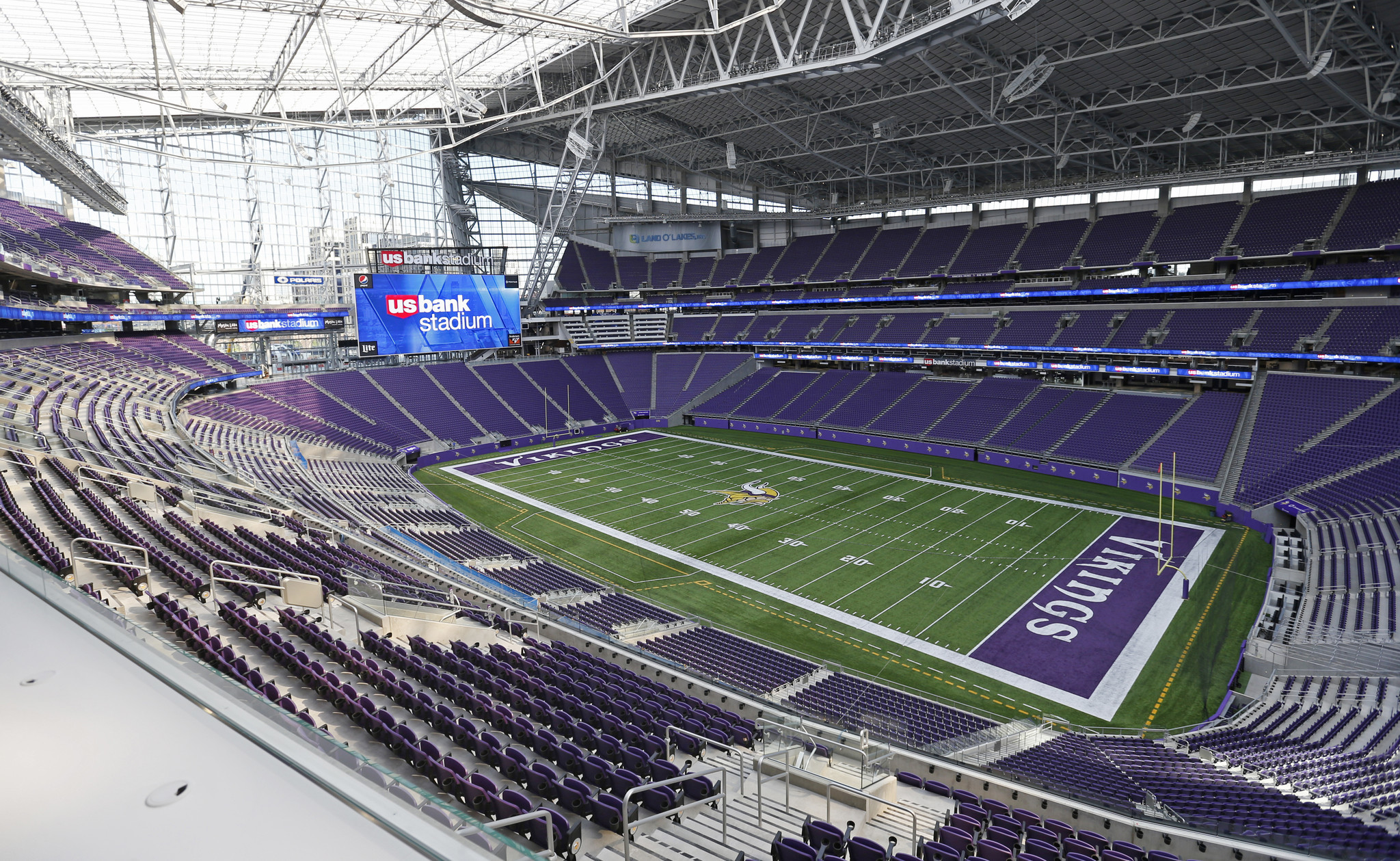 Chelsea Soccer Team In At Minnesota Vikings Stadium Foto