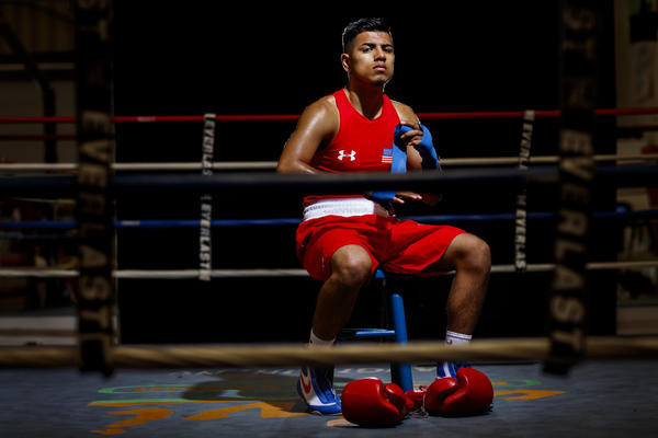 Carlos Balderas will compete in the lightweight division in the 2016 Rio Olympics. (Jay L. Clendenin / Los Angeles Times)