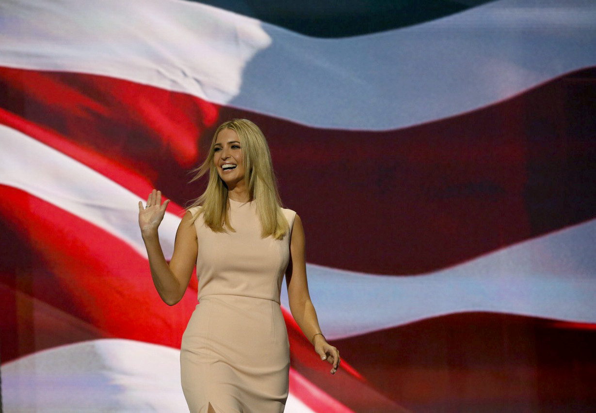 In the Trump family tradition, Ivanka uses her moment in the spotlight to hawk her wares