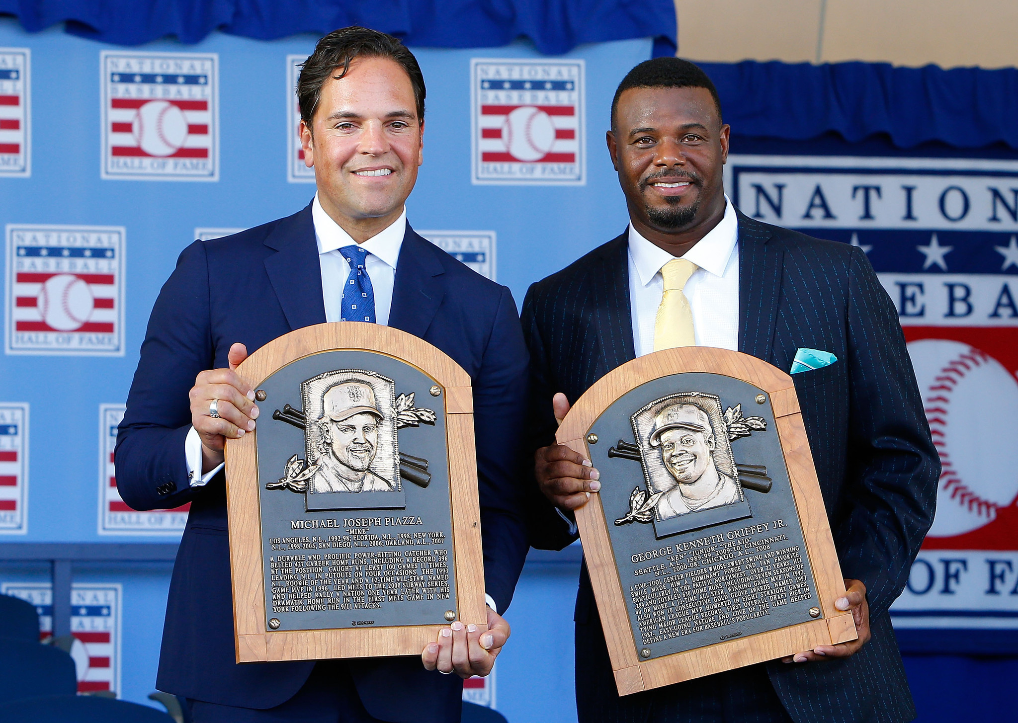 Mike Piazza and Ken Griffey Jr. inducted into Baseball Hall of Fame - Chicago Tribune