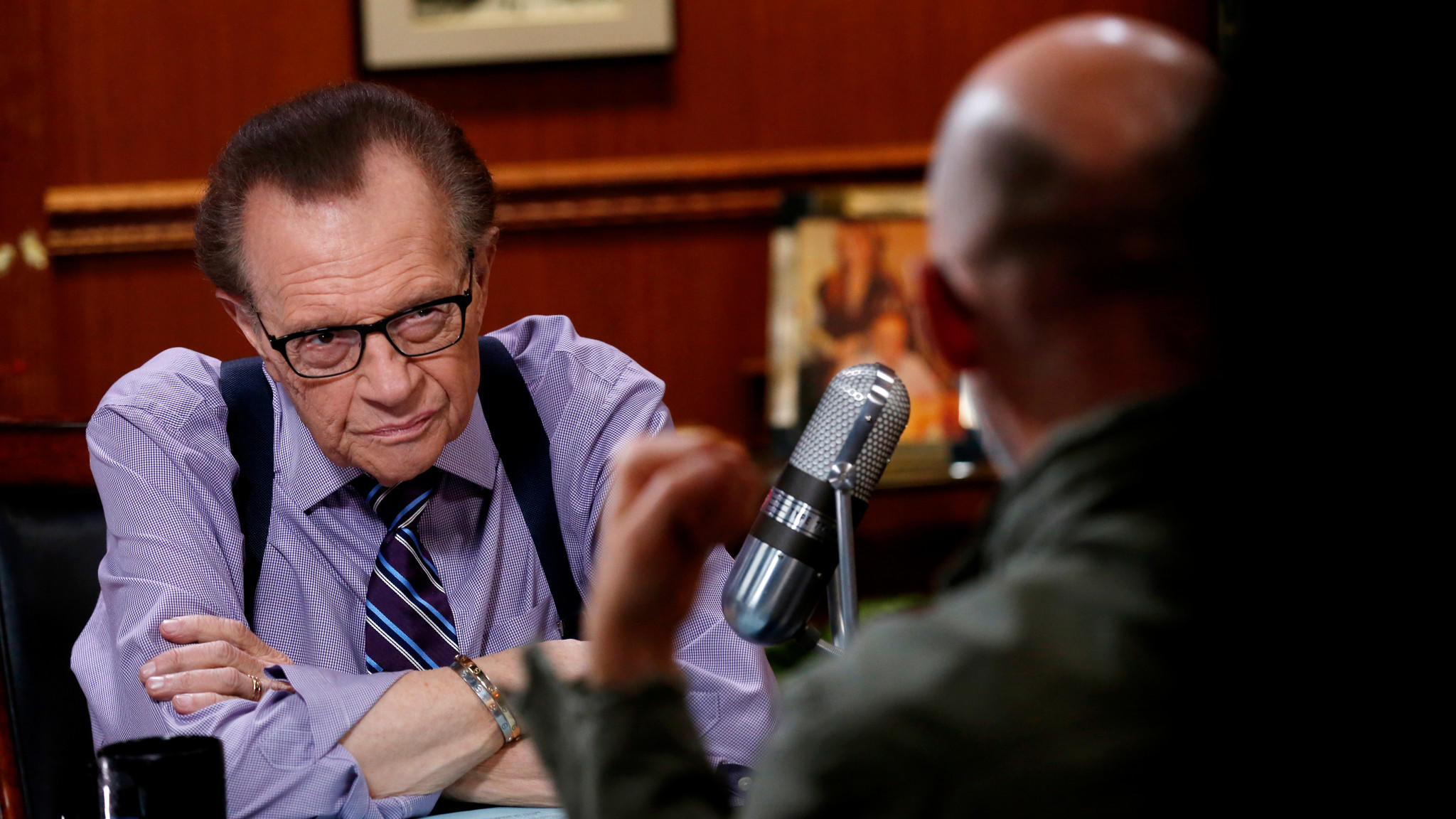 Larry King has revealed that he underwent surgery for lung cancer in July. (Rick Loomis / Los Angeles Times)
