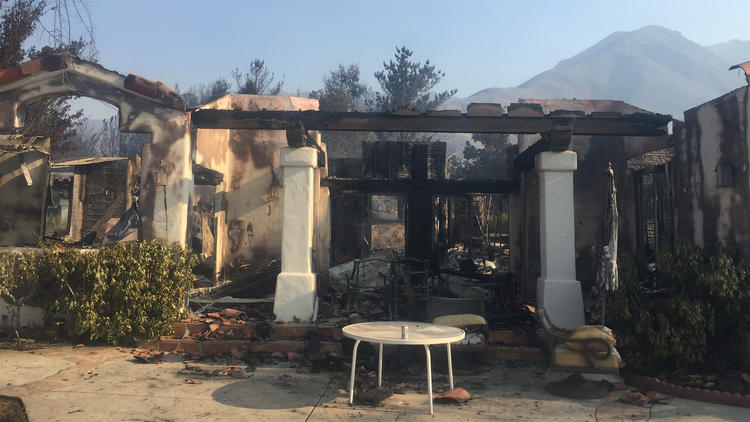 The home of Bruce Sanborn and Suzi Fox on Little Tujunga Canyon Road that was lost to the Sand fire. (Bruce Sanborn)
